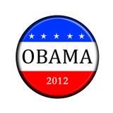 Botón del voto de Obama stock de ilustración