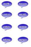Botón del Web fotografía de archivo libre de regalías