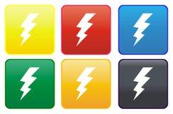 Botón del Web - alto voltaje libre illustration