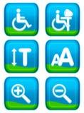 Botón del Web - conjunto de la ayuda Fotografía de archivo