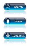 Botón del Web, conjunto del icono ilustración del vector