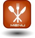 Botón del Web de alimento Fotografía de archivo