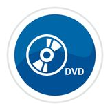 Botón del Web de DVD Fotografía de archivo libre de regalías