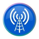Botón del Web de la antena de radio Imagen de archivo libre de regalías