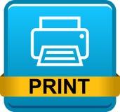 Botón del web de la impresora fotos de archivo libres de regalías