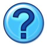 Botón del Web de la pregunta Imagen de archivo