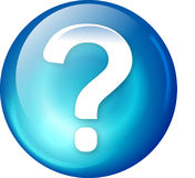 Botón del Web de la pregunta Fotos de archivo