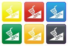 Botón del Web de la promoción Foto de archivo libre de regalías