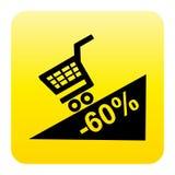 Botón del Web de la promoción Fotografía de archivo libre de regalías
