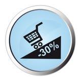 Botón del Web de la promoción Foto de archivo