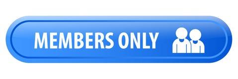 Botón del web de los miembros solamente stock de ilustración