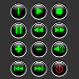Botón del Web de los multimedia Foto de archivo