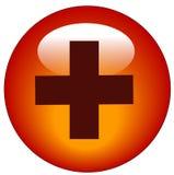 Botón del Web de los primeros auxilios Fotos de archivo