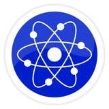 Botón del Web del átomo Foto de archivo libre de regalías