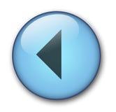 Botón del Web del Aqua Imagenes de archivo