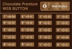 Botón del web del chocolate Foto de archivo libre de regalías