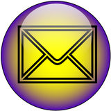 Botón del Web del email Imagen de archivo