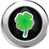 Botón del Web del trébol de cuatro hojas Foto de archivo