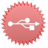 Botón del Web del USB Imagenes de archivo