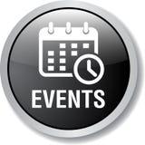 Botón del web del icono de los eventos libre illustration