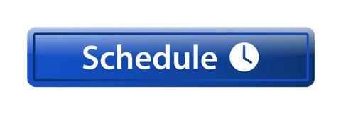 Botón del web del icono del horario ilustración del vector