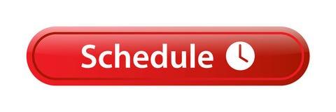 Botón del web del icono del horario stock de ilustración