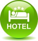 Botón del web del icono del hotel stock de ilustración