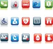 Botón del Web médico