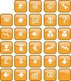 Botón del Web y del Internet Fotografía de archivo libre de regalías