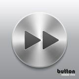 Botón delantero del rebobinado con textura cepillada del metal libre illustration