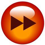 Botón delantero rápido del Web  stock de ilustración