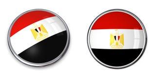Botón Egipto de la bandera Foto de archivo libre de regalías