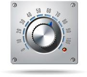 Botón electrónico del regulador del control analogico stock de ilustración