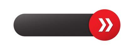 Botón EN BLANCO del web con las flechas stock de ilustración