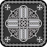 Botón en de estilo celta Imágenes de archivo libres de regalías