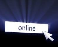 Botón en línea stock de ilustración