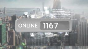 Botón en línea con números libre illustration