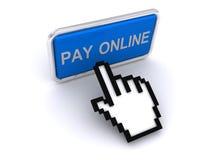 Botón en línea de la paga   stock de ilustración