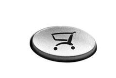 Botón en línea de las compras Fotografía de archivo libre de regalías