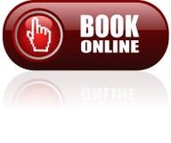 Botón en línea del web del libro Foto de archivo libre de regalías