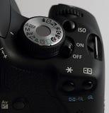 Botón en las cámaras digitales imagen de archivo