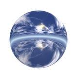 Botón esférico 3D Imagen de archivo libre de regalías
