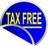 Botón exento de impuestos Imágenes de archivo libres de regalías