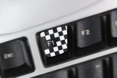 Botón F1 Imagenes de archivo