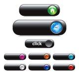 Botón fijado para el diseño de Web - vector del EPS Imagen de archivo