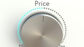 Botón giratorio con la inscripción del precio almacen de metraje de vídeo