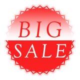 Botón grande de la venta Imagenes de archivo