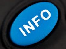Botón Info Imagen de archivo libre de regalías
