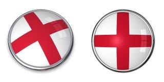 Botón Inglaterra de la bandera Imagen de archivo libre de regalías