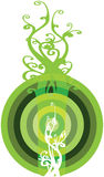 Botón interesante Bullzeye de Eco Ilustración del Vector